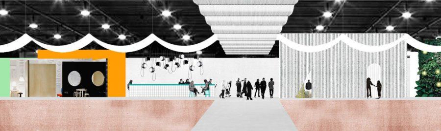 Schets van de Interieurbiënnale Kortrijk door OFFICE Kersten Geers David Van Severen